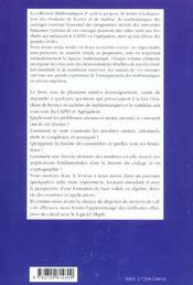 Algebre Et Theorie Des Nombres Cryptographie Primalite - 4ème de couverture - Format classique