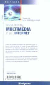 Les métiers du multimedia et de l'internet - 4ème de couverture - Format classique