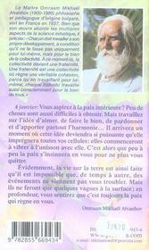 Pensees Quotidiennes ; (Edition 2008) - 4ème de couverture - Format classique