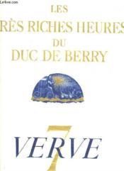 Verve N° 7 Volume Ii. Les Tres Riche Heures Du Duc De Berry. Le Calendrier. - Couverture - Format classique