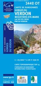 Gorges du Verdon ; Moustiers ; Ste.-Marie ; lac de Ste-Croix ; PNR du Verdon ; 3442 OT - Couverture - Format classique