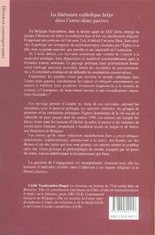 Ecrire En Belgique Sous Le Regard De Dieu - 4ème de couverture - Format classique