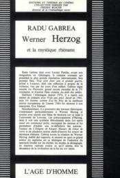 Werner Herzog et mystique rhénane - 4ème de couverture - Format classique