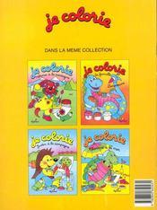 Je Colorie ; La Famille Dinosaure - 4ème de couverture - Format classique