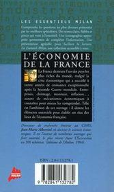 L'economie De La France - 4ème de couverture - Format classique