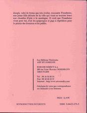Le berger aimait trop les framboises ; comedie paysanne - 4ème de couverture - Format classique