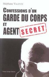 Confessions d'un garde du corps et agent secret - Intérieur - Format classique