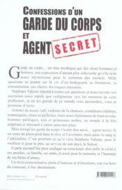 Confessions d'un garde du corps et agent secret - 4ème de couverture - Format classique