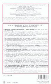 Revue, Allemagne D'Aujourd'Hui N 163 - 4ème de couverture - Format classique