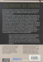 Economie Du Cinema (L) - 4ème de couverture - Format classique