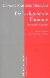 De la dignité de l'homme - Intérieur - Format classique
