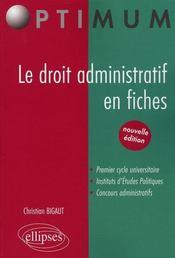 Droit administratif en fiches - Intérieur - Format classique