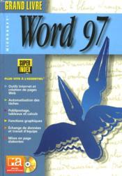 Grand Livre Word 97 - Couverture - Format classique