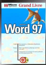 Grand Livre Word 97 - Intérieur - Format classique