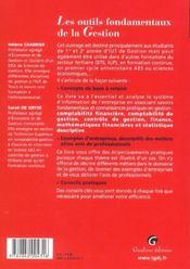 Outils Fondamentaux De La Gestion (Les) - 4ème de couverture - Format classique