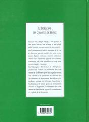 Le patrimoine des communes de la reunion - 4ème de couverture - Format classique