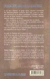 Peabody Secoue Le Cocotier - 4ème de couverture - Format classique