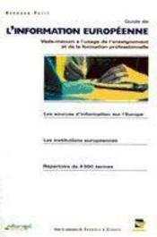 Guide de l'information européenne - Intérieur - Format classique
