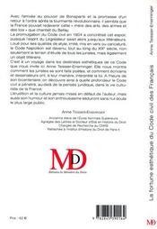 La Fortune Esthetique Du Code Civil Des Francais - 4ème de couverture - Format classique