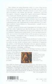 Le Feminisme Et Ses Derives Du Male Dominant Au Pere Conteste - 4ème de couverture - Format classique