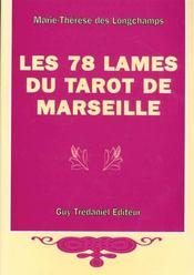 78 lames du tarot de marseille - Intérieur - Format classique