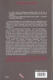 Que Sont Devenues Nos Campagnes Electorales L'Eclairage Par La Succession De J.Chaban-Delmas En - 4ème de couverture - Format classique