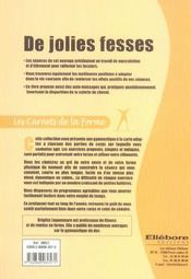 Jolies Fesses - Carnets De La Forme - 4ème de couverture - Format classique