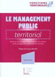 Le Management Public Teritorial Tome 1 - Intérieur - Format classique