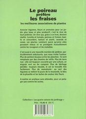 Poireau Prefere Les Fraises (Le) - 4ème de couverture - Format classique