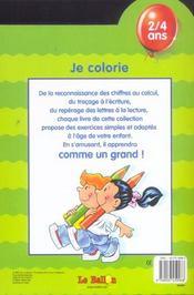Je Colorie ; Vert - 4ème de couverture - Format classique