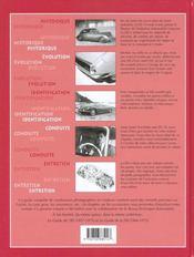 La Ds 19, 1955-1966. Historique, Identification, Évolution, Restauration, Entretien, Conduite - 4ème de couverture - Format classique
