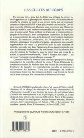Les Cultes Du Corps ; Ethique Et Sciences - 4ème de couverture - Format classique