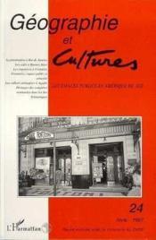 Geographie Et Cultures 24 Les Espaces Publics En Amer - Couverture - Format classique