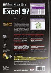 Grand livre excel 97 - 4ème de couverture - Format classique