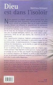 Dieu est dans l'isoloir ; politique et religions ; les retrouvailles que marianne n'avait pas prévues - 4ème de couverture - Format classique