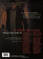 Secrets, le serpent sous la glace t.3 - 4ème de couverture - Format classique