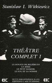 Theatre Complet T.1 - Intérieur - Format classique