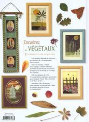 Encadrez Les Vegetaux - 4ème de couverture - Format classique
