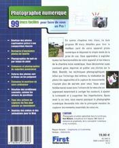Photographie Numerique ; 99 Trucs Faciles Pour Faire De Vous Un Pro - 4ème de couverture - Format classique