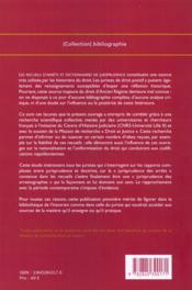 Les Recueils D'Arrets Et Dictionnaires De Jurisprudence (Xvi - Xviii Siecles) - 4ème de couverture - Format classique