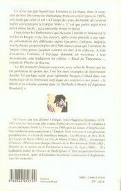 Dictionnaire Francais-Argot A L'Usage Des Gens Du Monde Qui Veulent Parler Correctement La Langue Verte - 4ème de couverture - Format classique