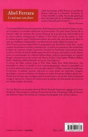 Abel Ferrara - 4ème de couverture - Format classique