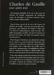 Charles De Gaulle Jour Apres Jour - 4ème de couverture - Format classique