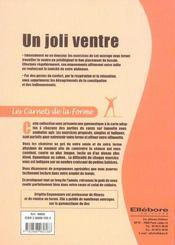 Joli Ventre - Carnets De La Forme - 4ème de couverture - Format classique