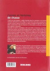 Contes et histoires de chasses - 4ème de couverture - Format classique