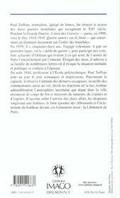 De La Drole De Guerre A La Liberation De Paris 1939-1944 - 4ème de couverture - Format classique
