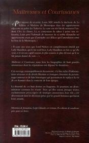 Maîtresses et courtisanes - 4ème de couverture - Format classique