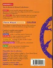 Histoire College - 4ème de couverture - Format classique