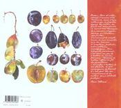 Les fruits de ma vie - 4ème de couverture - Format classique