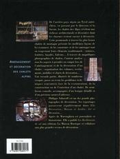 Chalets de montagne - 4ème de couverture - Format classique